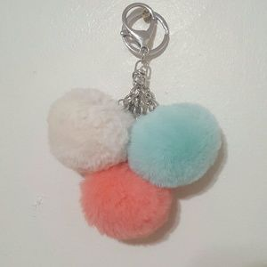 Tri-color Poms Keychain FREE WITH BUNDLE